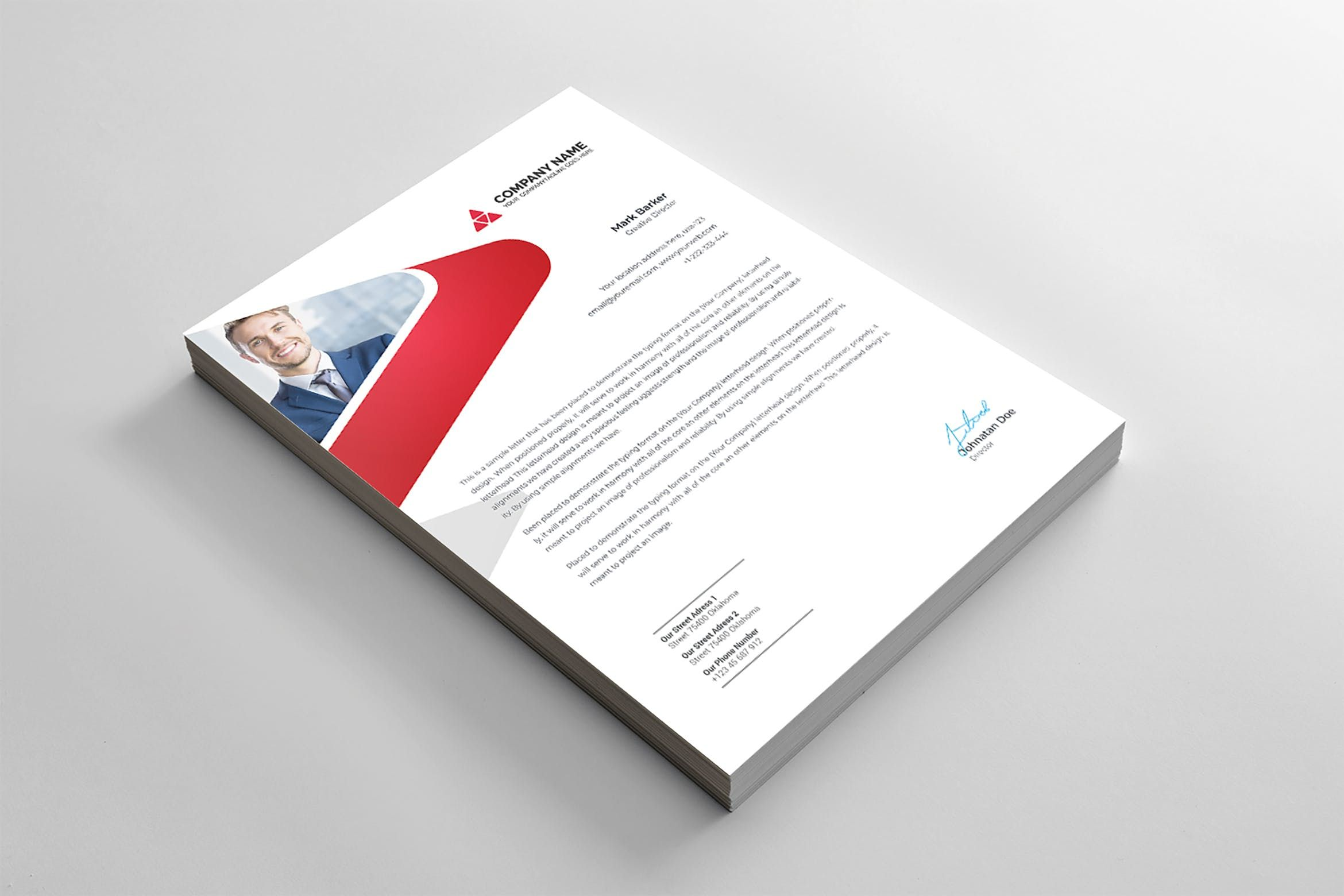 Letterhead by curvedesign on Envato Elements in 2020