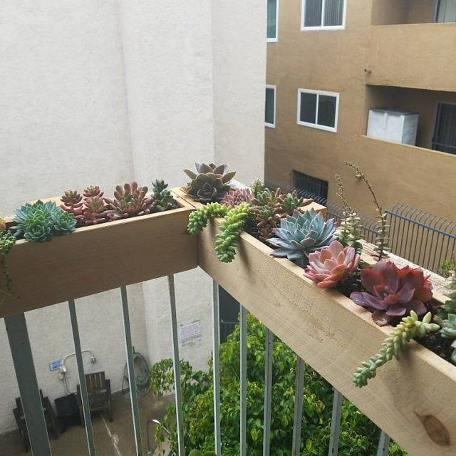 Balcony Rail Planter Box Etsy Small Balcony Garden Balcony Planters Balcony Planter Boxes