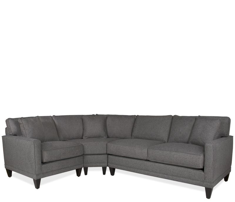 Current family room couch Boston Interiors Oslo Sectional with Wedge upholstered in a heathered gray fabric self toss pillows and espresso finish legs  sc 1 st  Pinterest : sectional with wedge - Sectionals, Sofas & Couches