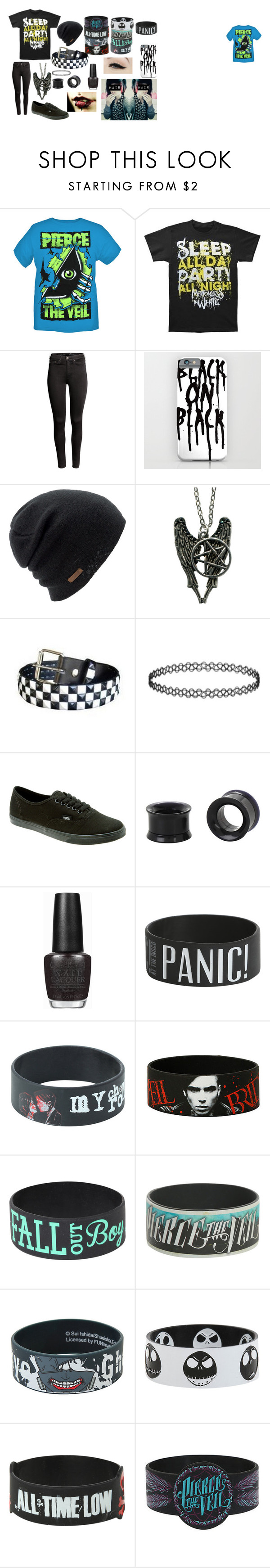 """Motionless in White"" by abipatterson on Polyvore featuring H&M, Coal, Vans, OPI and Anatomy Of"