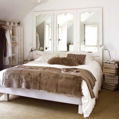 Cabecero puertas armario decoracion ideas para el - Decorar cabeceros de cama ...