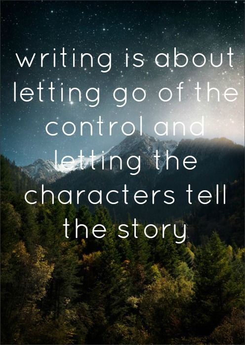 Letting the characters tell the story | Writing motivation ...