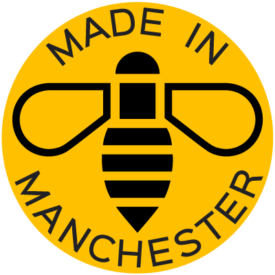 The Manchester Bees Made In Manchester Designed By K Type In 2020 Manchester Logo Vector Logo Bee Icon