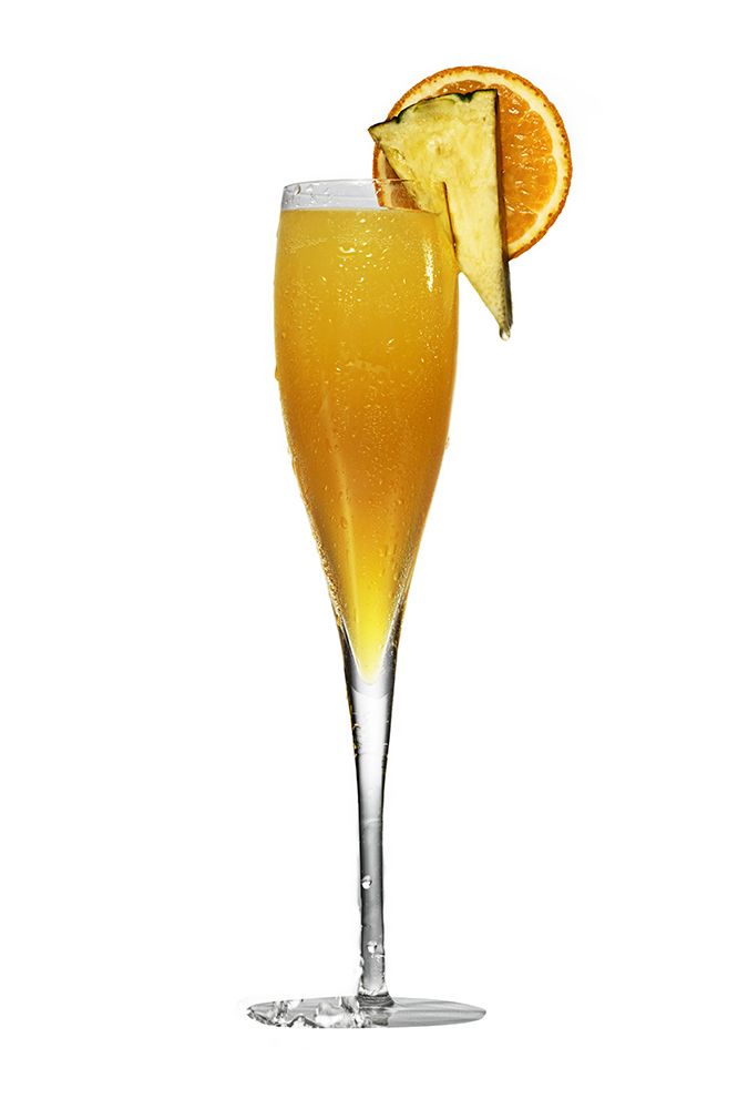 A simple twist on a favorite, this Pineapple Mimosa features Ciroc Pineapple Vodka with Prosecco.