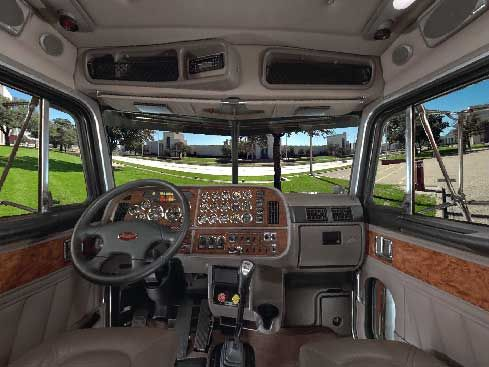 Peterbilt Semi Truck Sleeper Interior