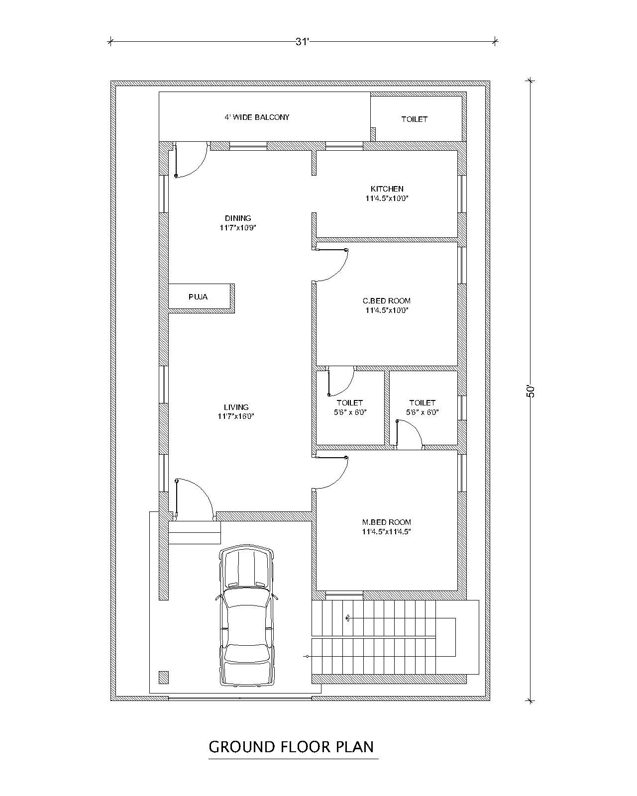 We are viewing west face plan in this paln two bed rooms is or very good also north for house  feet area home designs interior rh pinterest