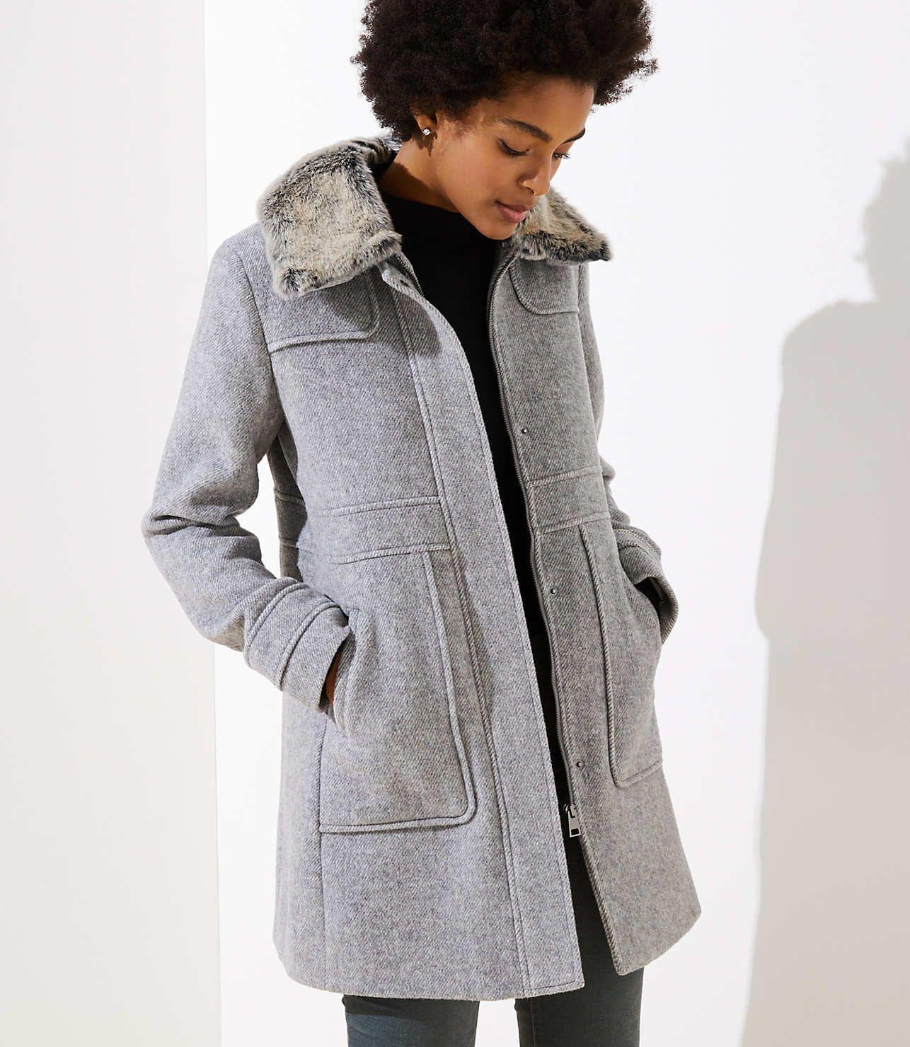 Faux Fur Collar Coat Loft Faux Fur Collar Coat Coat Clad And Cloth [ 1480 x 1286 Pixel ]