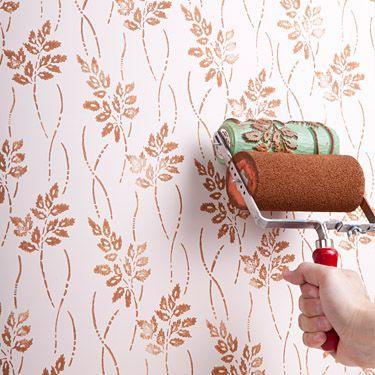 strukturwalzen und musterwalzen zur modernen oder historischen wandgestaltung ideen. Black Bedroom Furniture Sets. Home Design Ideas