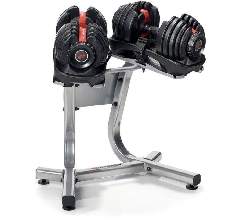 Bowflex Selecttech Stand Dumbbell 552 1090 Weight Organizer 2 In1 Heavy Duty Gym Bowflex Bowflex Weight Training Equipment Dumbbell