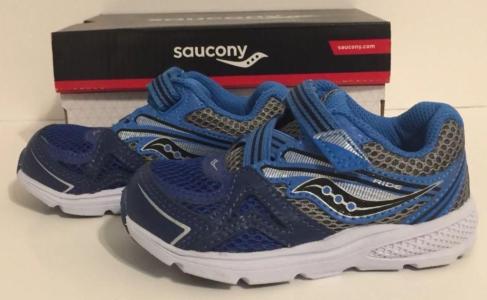 00e3e2c52a Saucony TODDLER Boy's Sneaker • B Baby Ride 9 EXTRA WIDE Shoes ...