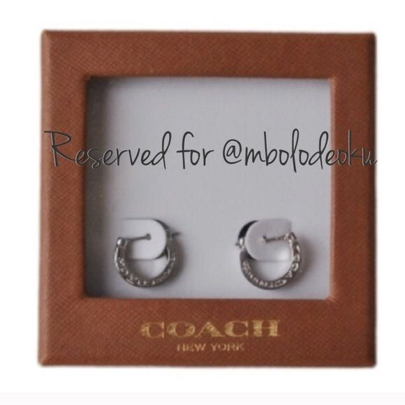 Reserved for @ mbolodeoku Coach Pave Earrings Coach Accessories