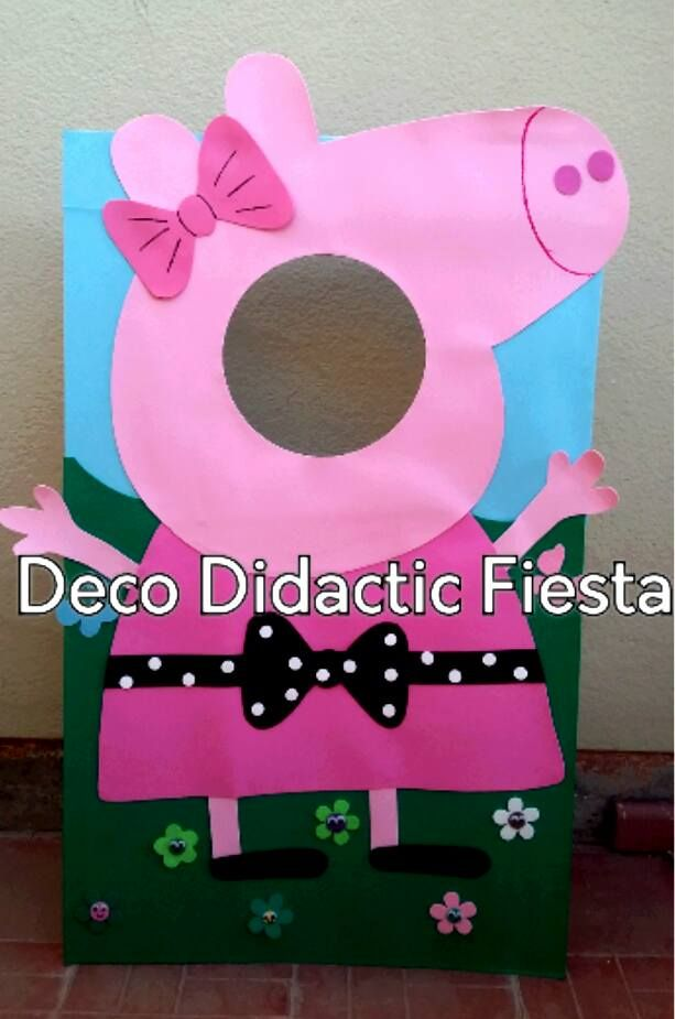 Peppa Pig, figura de pie para tomar foto/FIESTA/PARTY | Marcos para ...