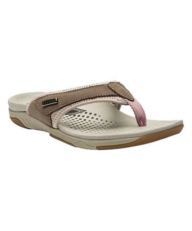 Another great find on #zulily! Gunsmoke & Pink Hartley Leather Flip-Flop #zulilyfinds