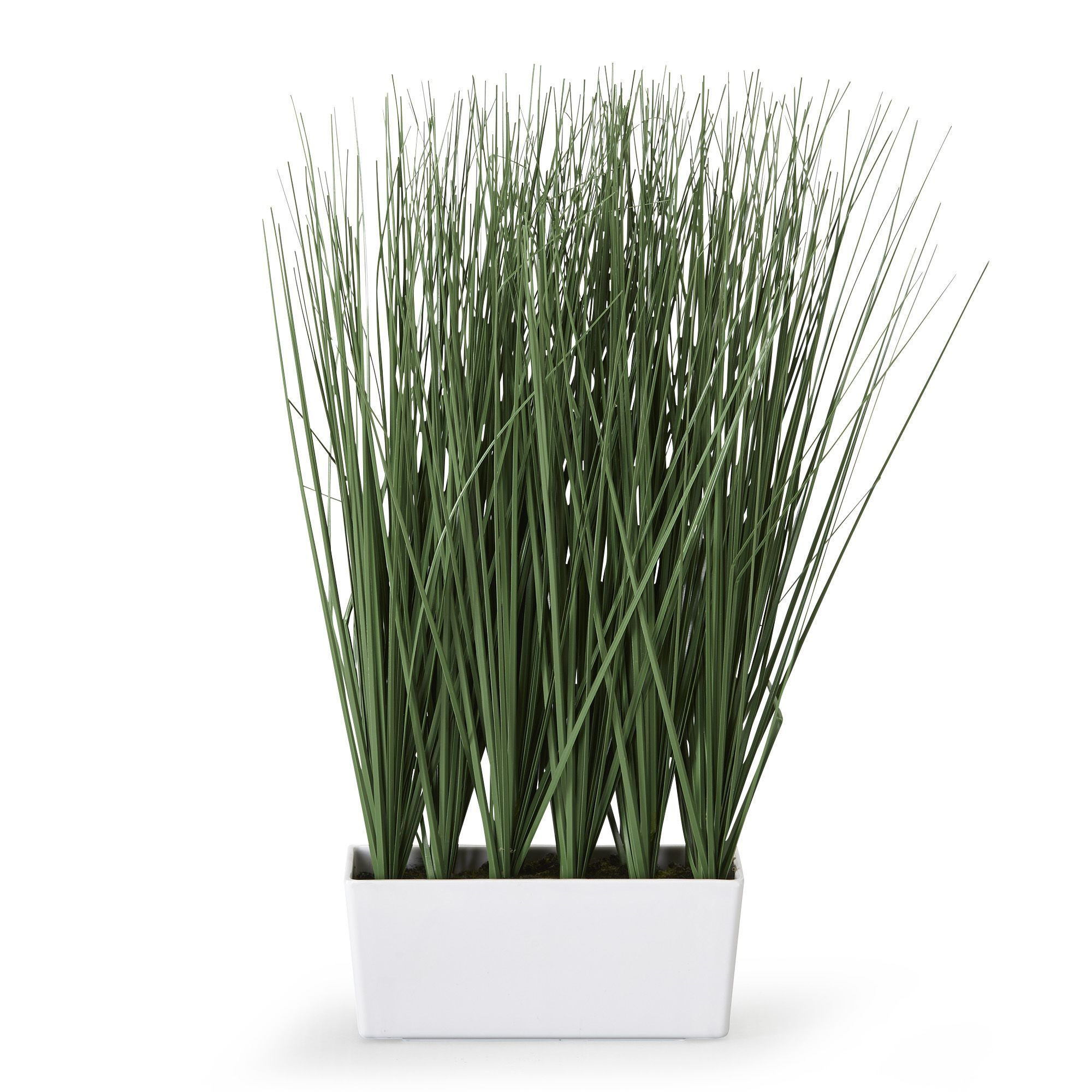 Jardini re d 39 herbes hautes artificielles h40cm vert for Plante decorative jardin