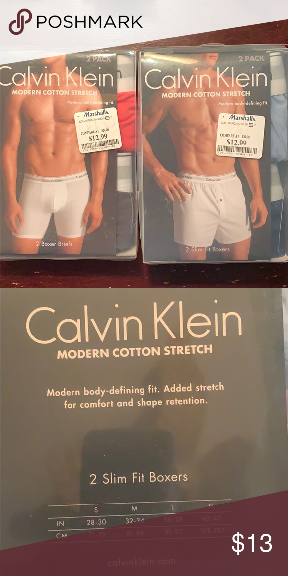 4c2d21387806 Calvin Klein Modern Cotton Stretch Boxers 4 Slim Fit Cotton Boxers Colors:  Chambray Light Blue Navy Black Pink Size Small 28-30 in Calvin Klein  Underwear ...