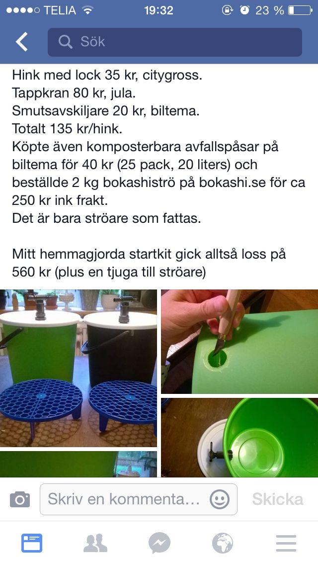 Egen bokashihink Bokashi Pinterest - komposteimer für die küche