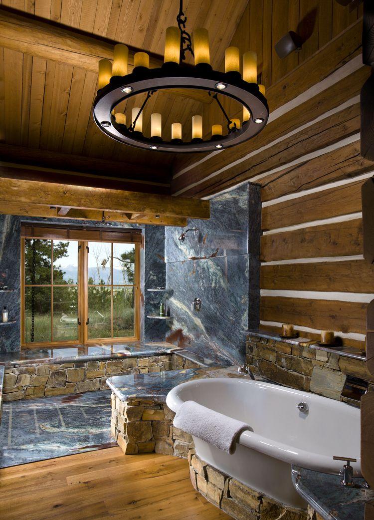 Log Home Bathrooms