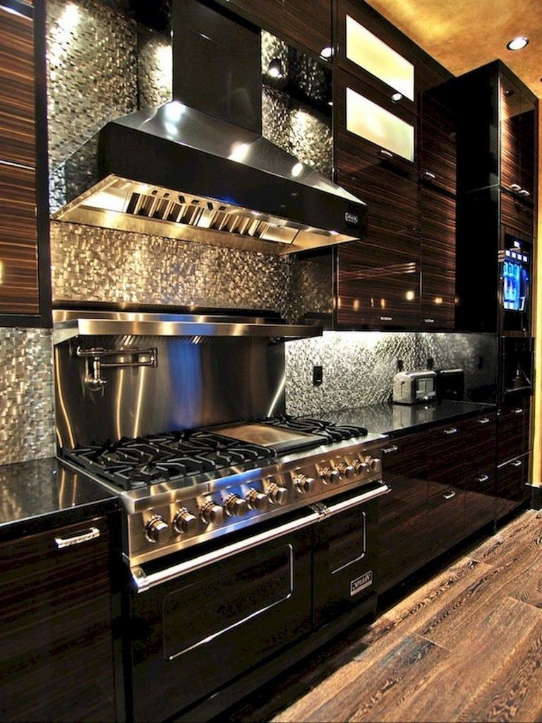 - 80 Beautiful Kitchen Backsplash Decor With Dark Cabinets