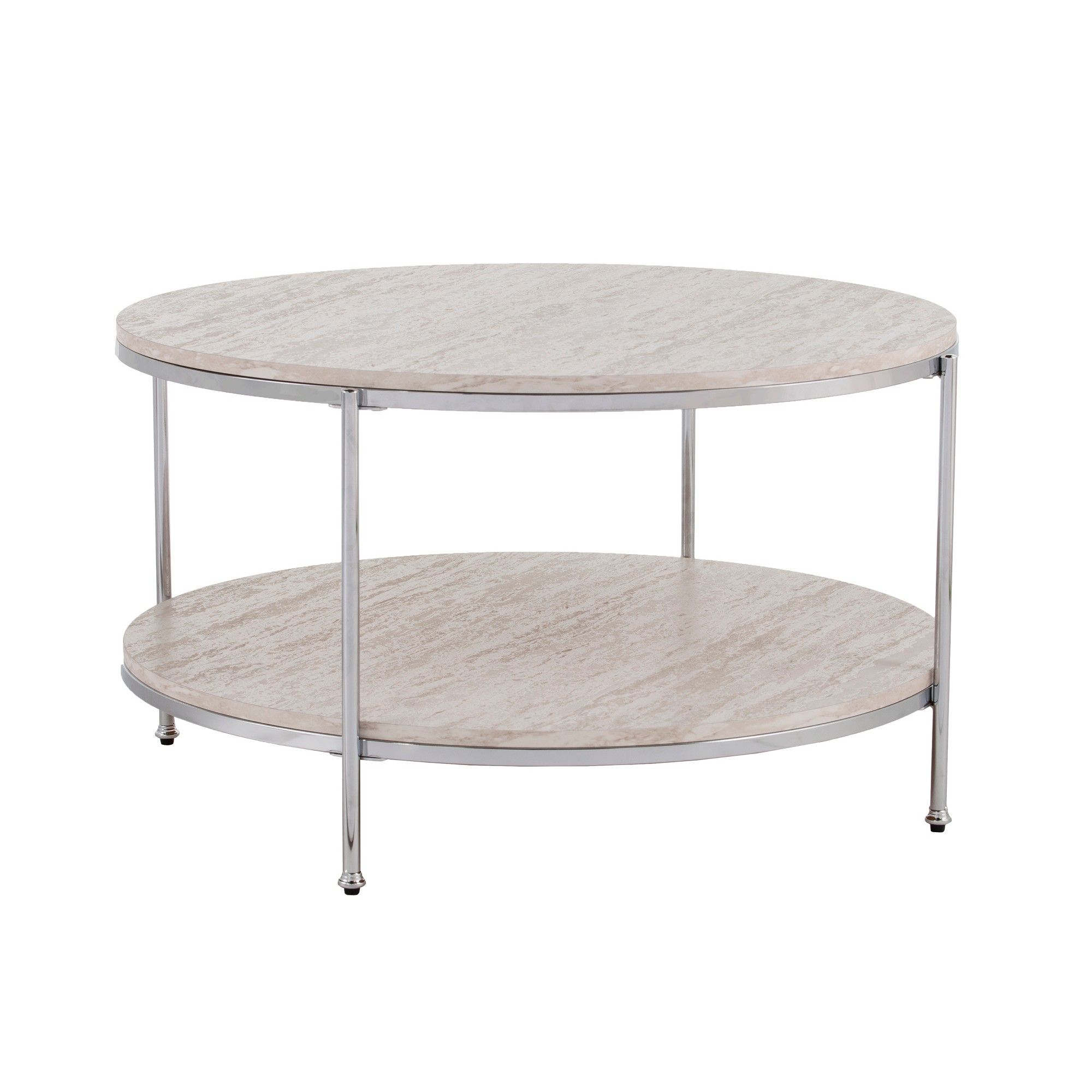 Sula Round Faux Stone Cocktail Table Chrome Aiden Lane Faux Marble Coffee Table Coffee Table Stone Coffee Table [ 2000 x 2000 Pixel ]