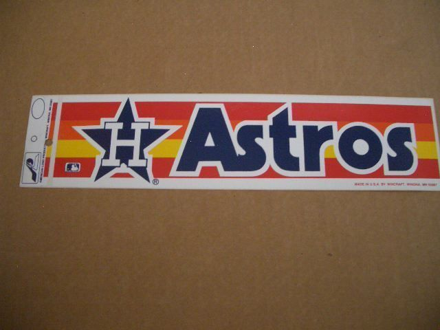 Vintage 1980s houston astros official mlb baseball wincraft bumper sticker rare please retweet