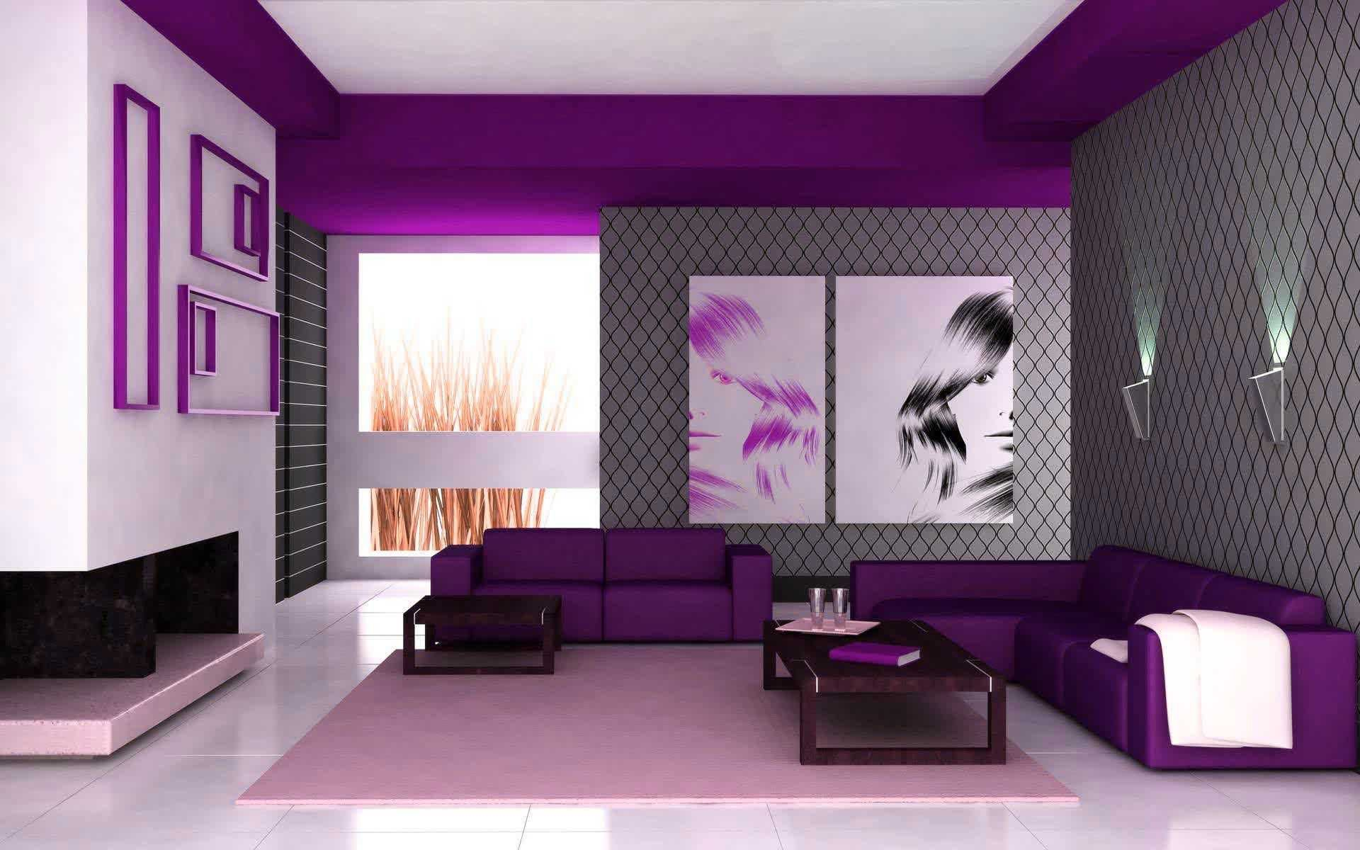 Bedroom Home Colour Paint Trends And Incredible House Painting Designs Colors Ideas In Nigeria Purple Living Room Room Colors Purple Wall Decor