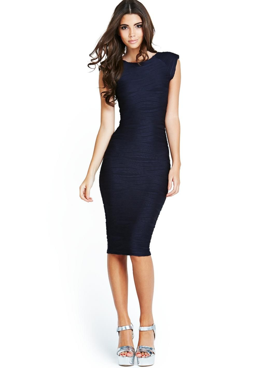Ripple Midi Dress - Navy, http://www.very.co.uk/ax-paris-ripple-midi ...