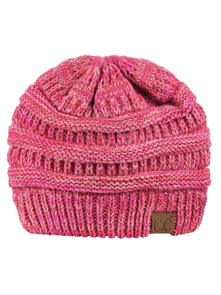 0c634ad3f63 C.C Trendy Warm Chunky Soft Stretch Cable Knit Beanie Skully 3 Tone Coral   fashion  clothing  shoes  accessories  womensaccessories  hats (ebay link)