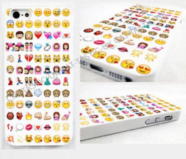 Emoji Iphone 4 4s 5c 5s 5 Glossy Cover Case Tie Dye Alien Princess Monkey Case Iphone Emoji