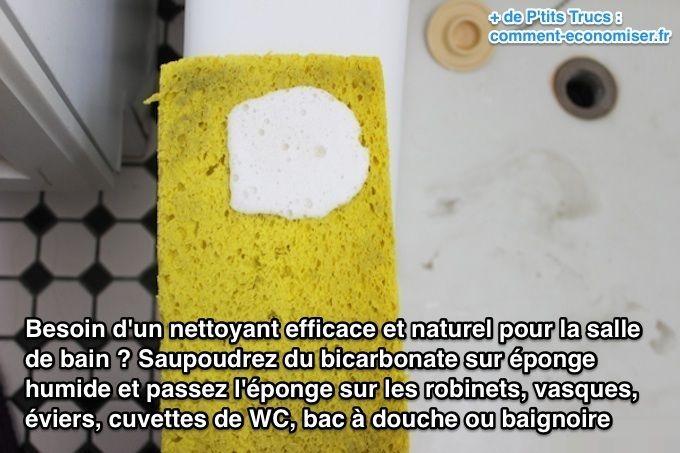 Enfin Un Nettoyant Pour La Salle De Bain Naturel ET Efficace - Bicarbonate de soude nettoyage salle de bain