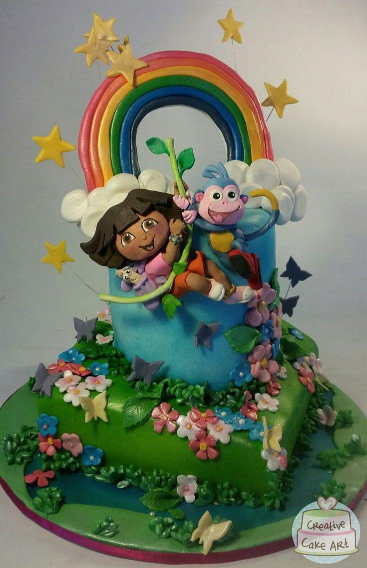 Dora The Explorer Birthday Cake And Cake Toppers Cakes Featured - Dora birthday cake toppers