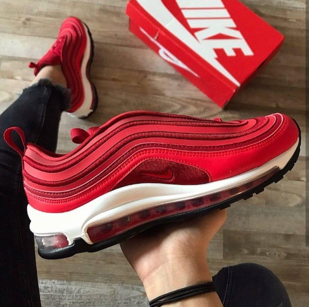 Nike Air Max 97 In Rot Weis Foto Ghzli Jk Instagram Turnschuhe Damen Turnschuhe Herren Turnschuhe