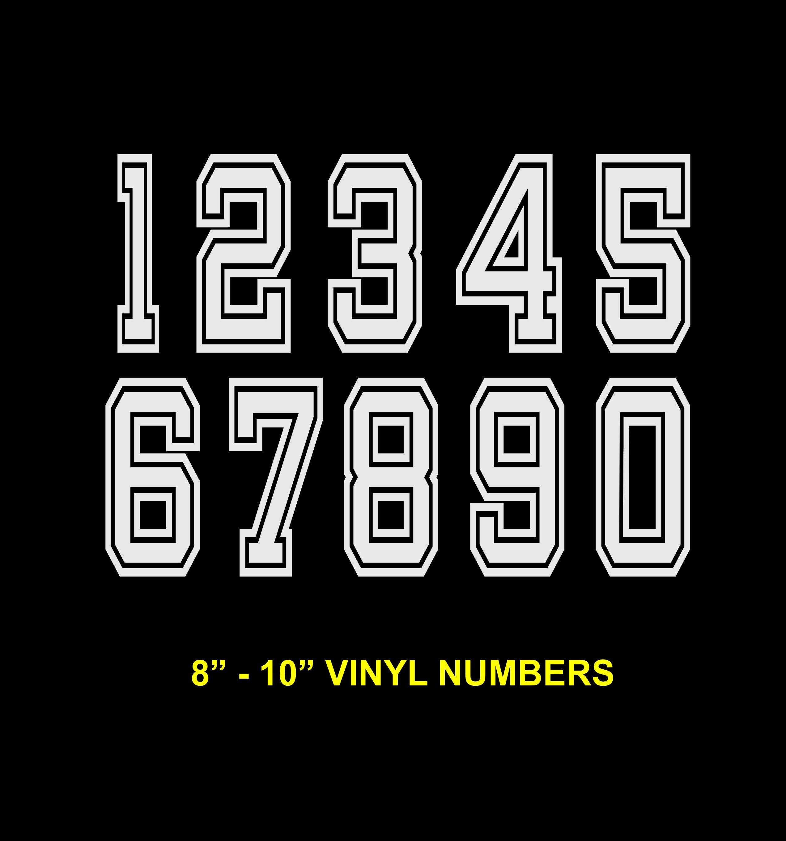 8 10 Iron On Numbers Iron On Vinyl Numbers Etsy Iron On Vinyl Iron On Letters Jersey Numbers