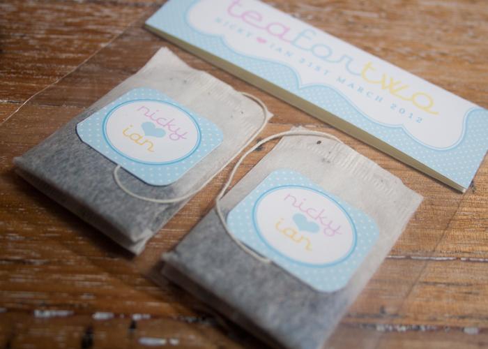 Tea Bag Favors Cute Idea For A Wedding Shower