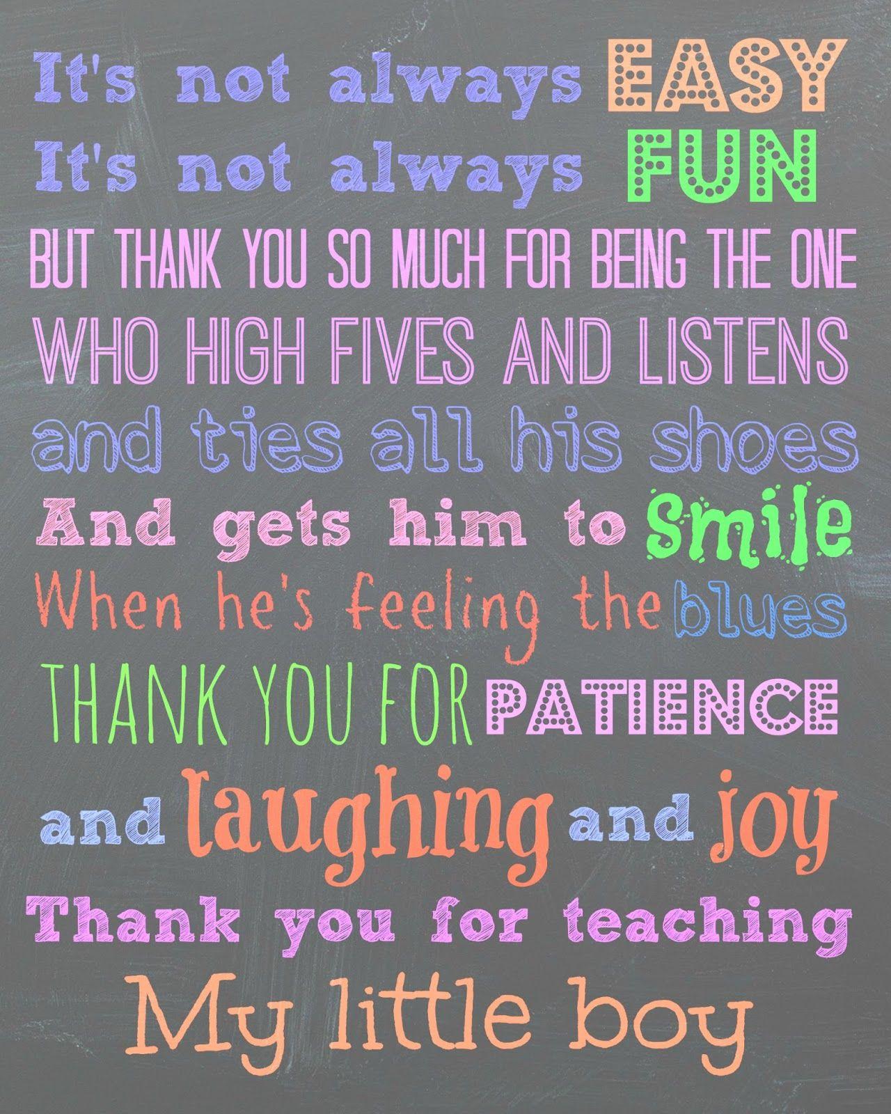 To my son's teachers, Thank You Teacher appreciation