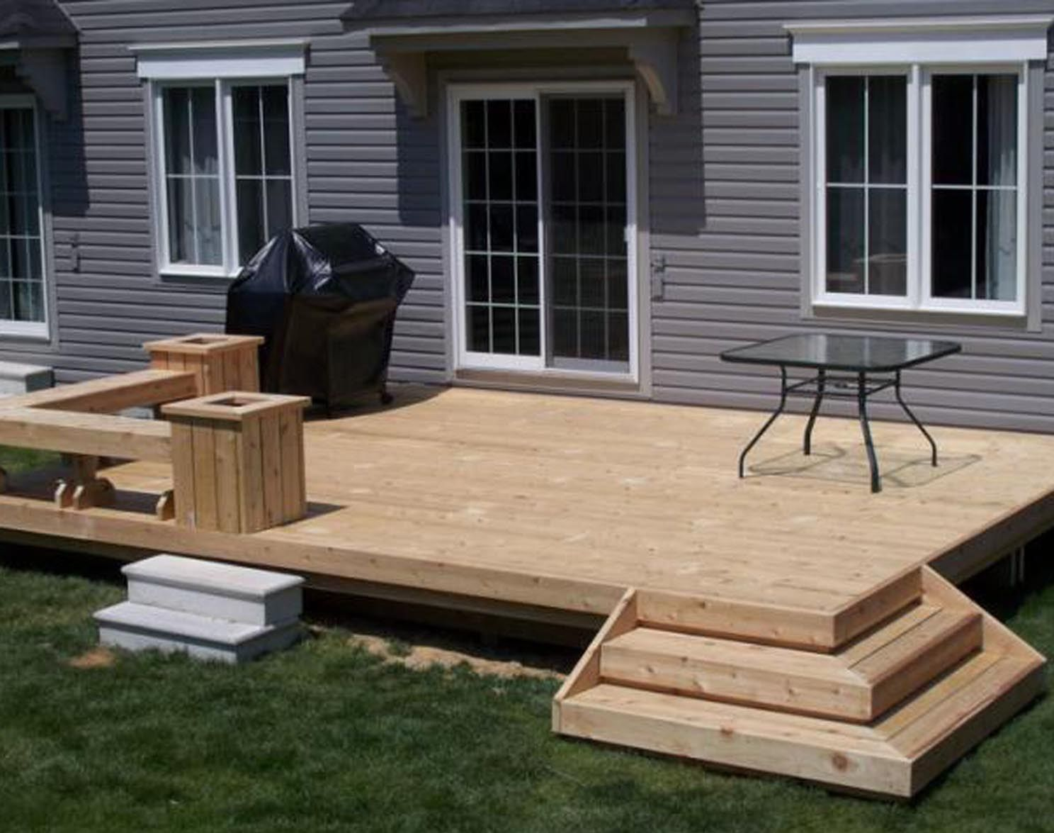 Flat Deck Designs Small Backyard Decks Simple Deck Designs