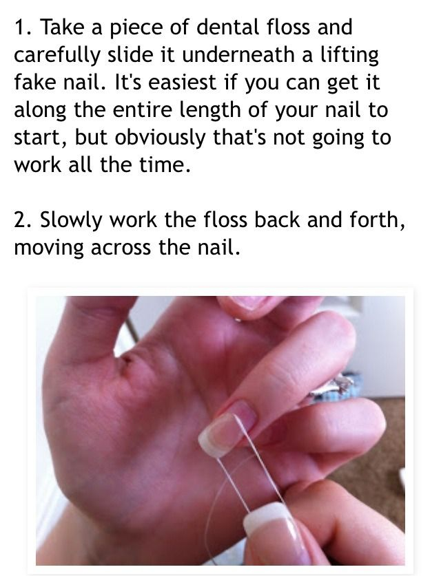 Remove Acrylic Nails Using Floss Google Search Remove Acrylic Nails Take Off Acrylic Nails Diy Acrylic Nails