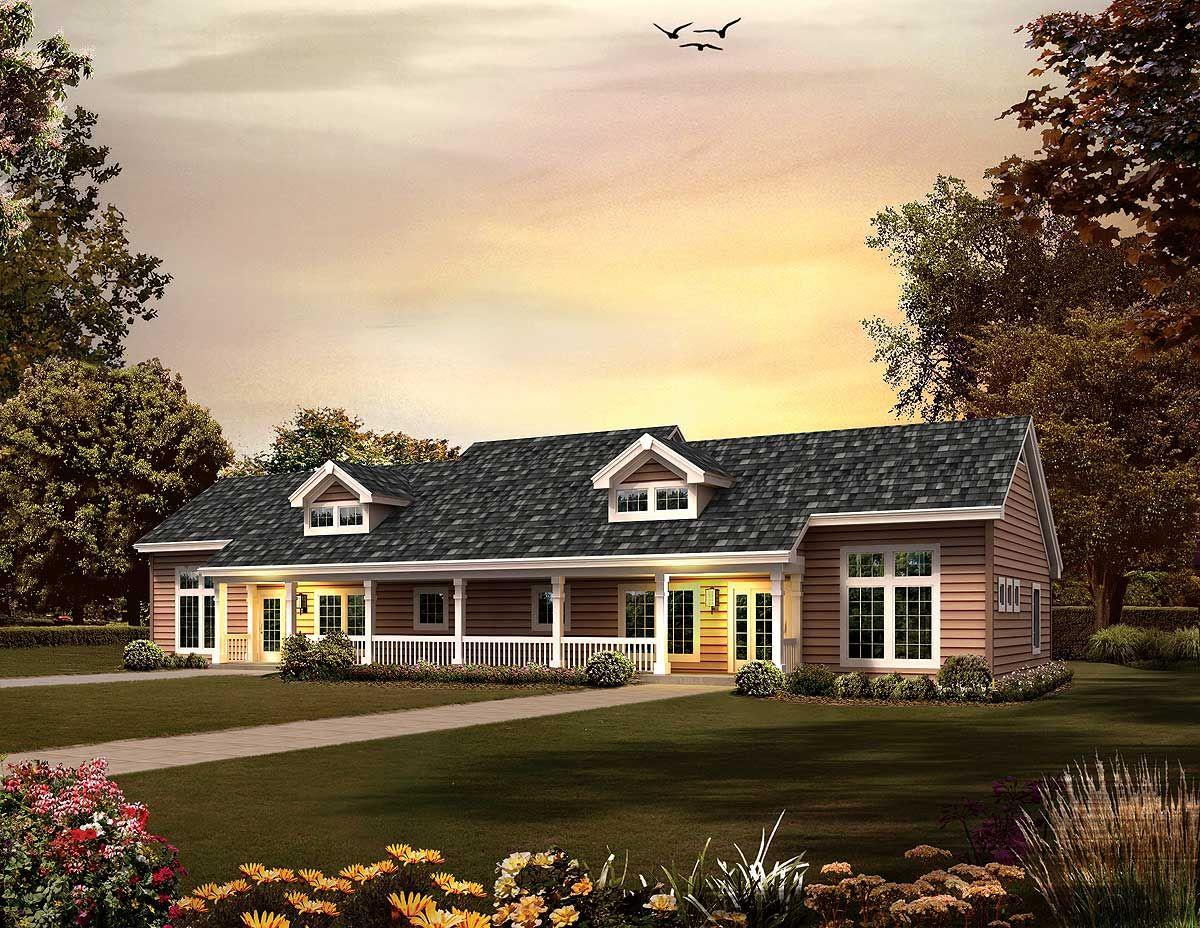 Plan 57246HA: One Level Duplex (With images) | Duplex ...