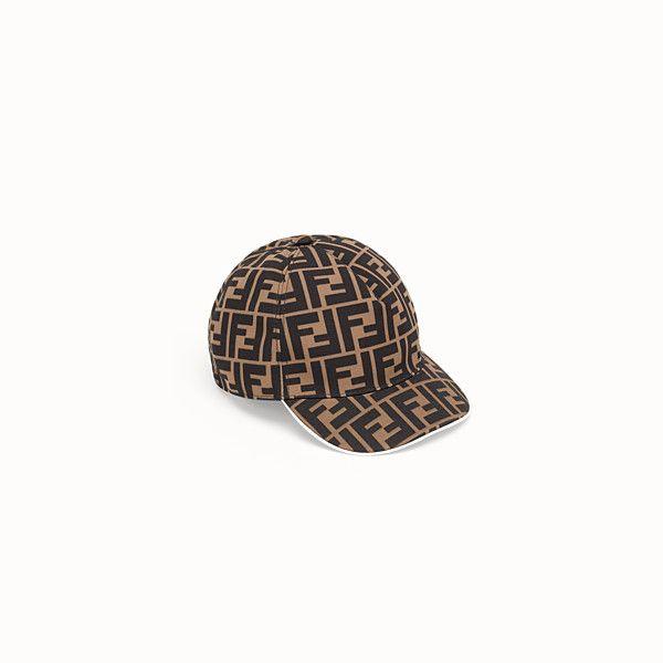 FENDI BASEBALL CAP - Tobacco canvas baseball cap - view 1 small thumbnail 6b4e95438f40