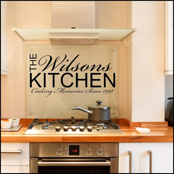 Personalised Kitchen ~ Wall sticker / decals | kitchen ...