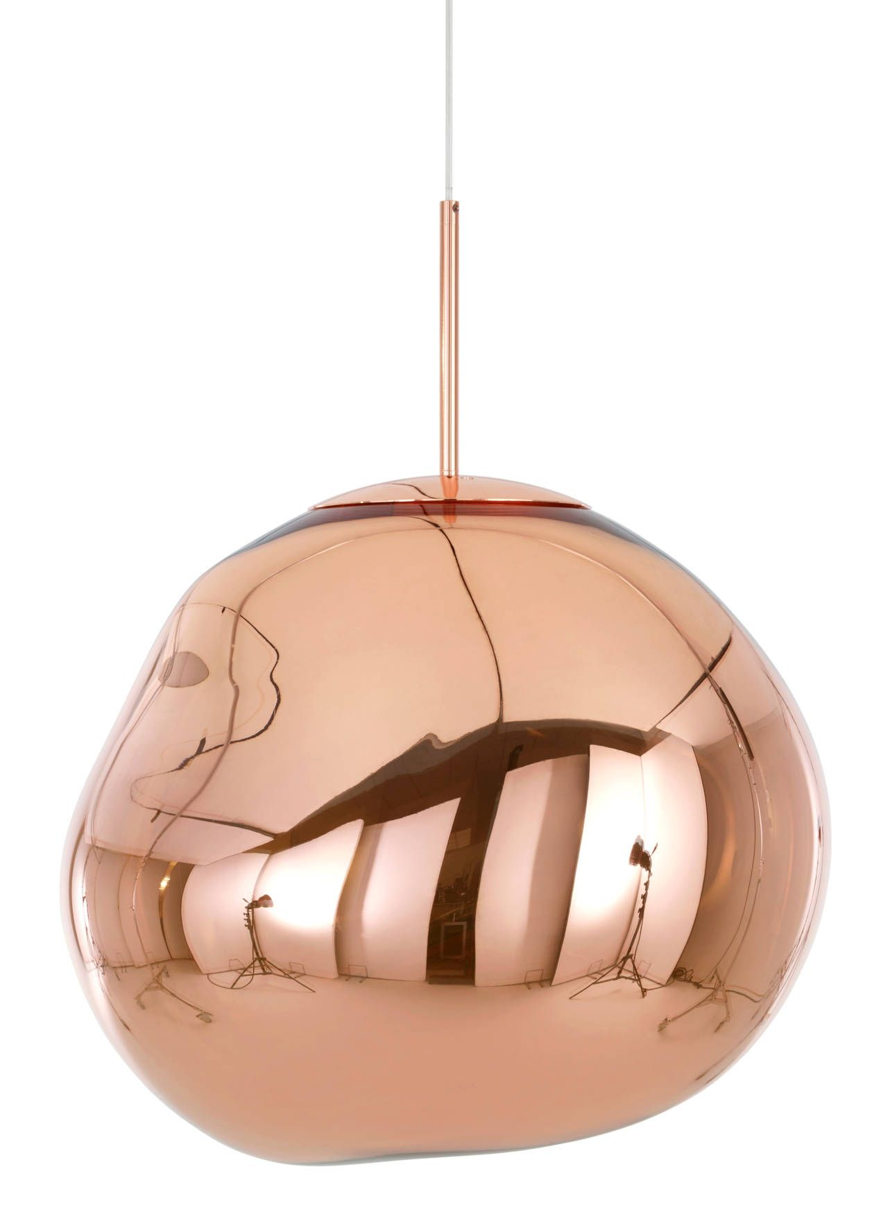 Melt Pendant In Copper By Tom Dixon Copper Pendant Lights Tom Dixon Mini Pendant Lights