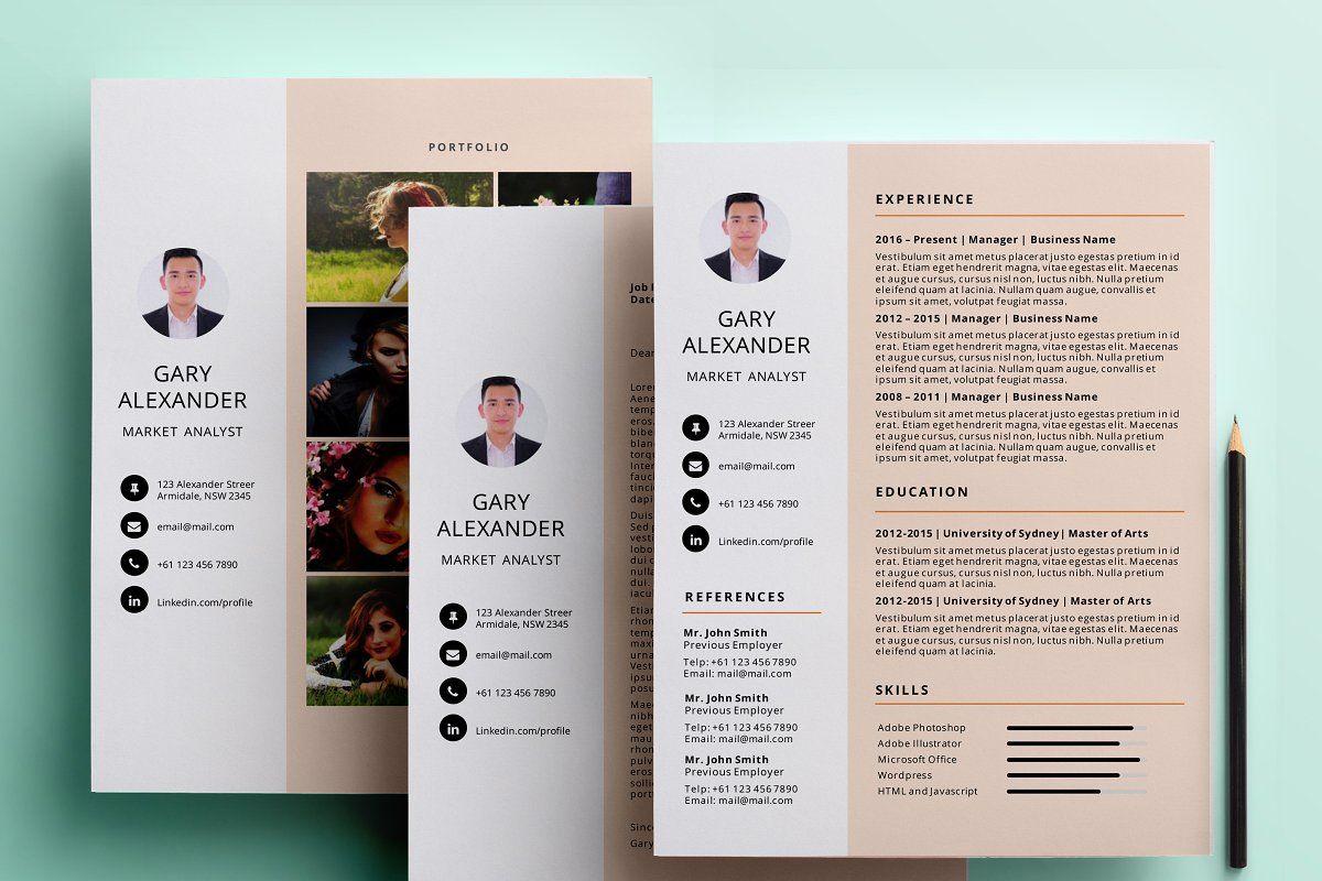 Simple PowerPoint resume pack in 2020 Creative resume