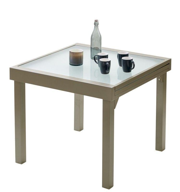 Table de jardin Modulo 4/8 places taupe | Salons de jardin tables ...