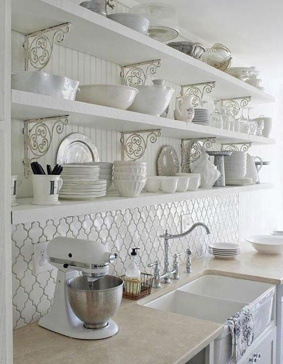 Arabesque Beveled Tile (Better Homes  Garden) Kitchens - shabby chic küche