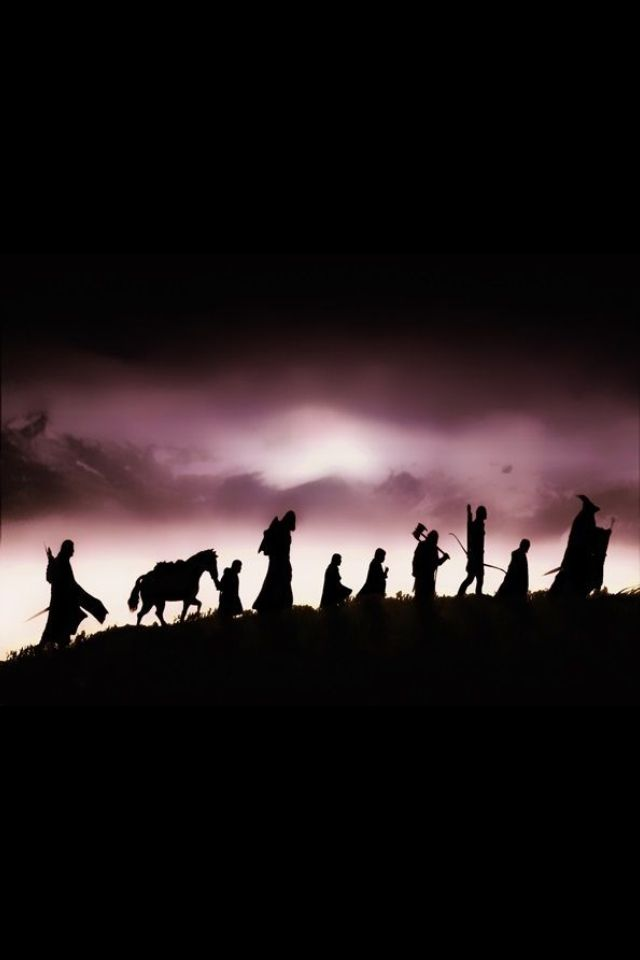 Lord Of The Rings Fellowship Silhouette Lord Of The Rings