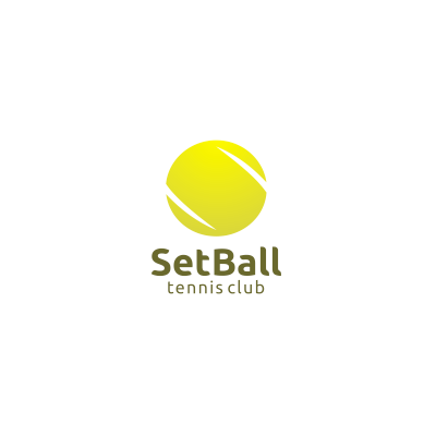 Set Ball Logo Sports Logo Design Logo Design Life Logo