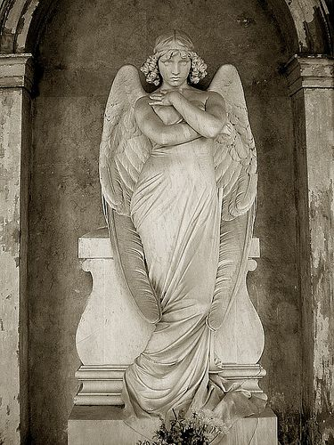 The Angel by Giulio Monteverde, Giulio Monteverde and family grave, Verano Monumental Cemetery, Rome, Italy
