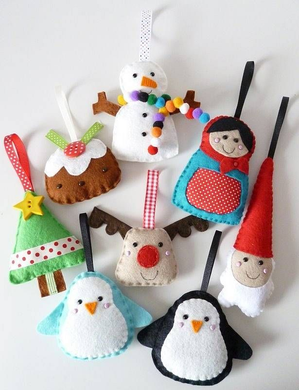 24 HOMEMADE ORIGNAL FELT LIKE ORNAMENTS | Felt christmas ...