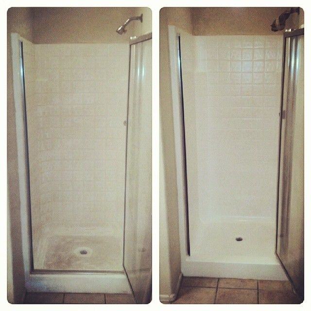 Grungy Shower Stall To Brite In 1 Day Shower Stall Green Bathroom Bathrooms Remodel