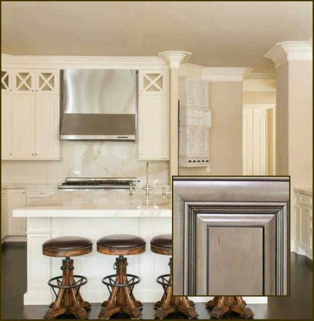 Beige Kitchen Accessories: Walls Sherwin Williams Kilim Beige. Cabinets Sherwin