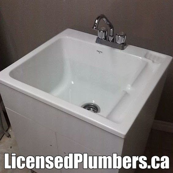 New laundry sink, cabinet and faucet from #Rona in #Mississauga ...